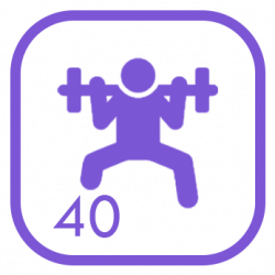 Pack Core/Gym - 40 Fichas