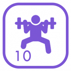 Pack Core/Gym - 10 Fichas